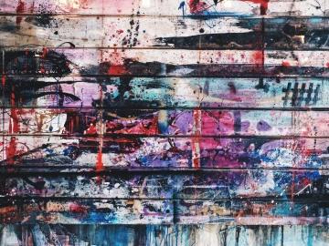grafiti, prljavi, urbane, stari, tekstura, zid, uzorak, vandalizam, umjetnost