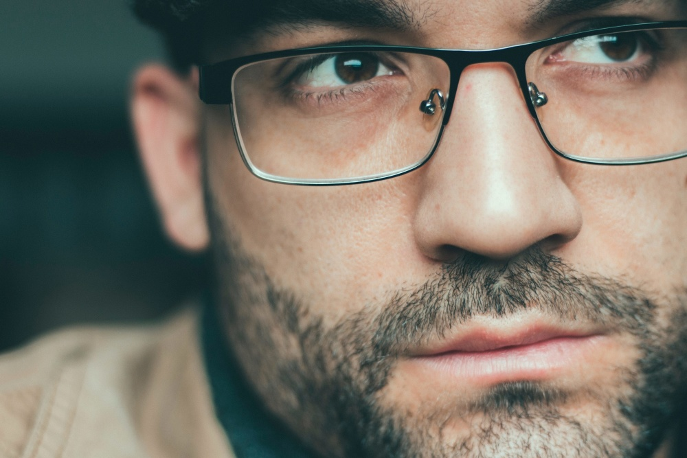 portrait, eyeglasses, man, beard, people, face, spectacles