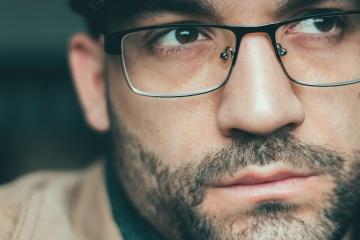 Portrait, lunettes, homme, barbe, personnes, visage, lunettes