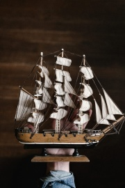 sailboat, watercraft, art, model, wood, decoration