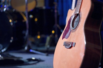 Guitare aquatique, musique, instrument, son, concert, objet