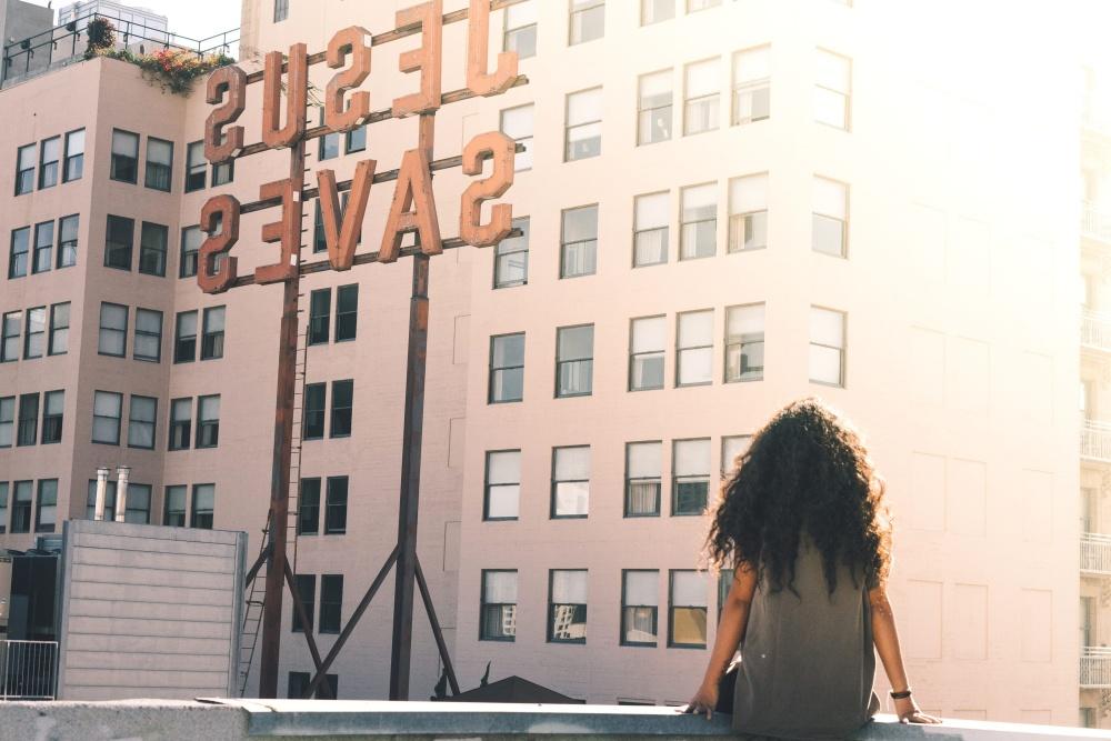 Stadt, Architektur, Frau, Innenstadt, Gebäude