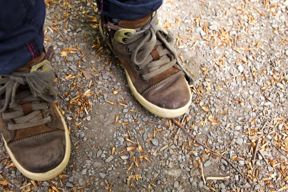 обувки, обувки, крак, износване, кожа, мода
