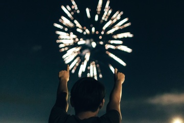 festival, people, fireworks, person, man, people, silhouette, dark, night