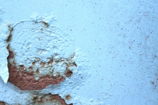 rust, paint, blue, wall, texture, abstract