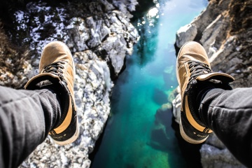 shoe, footwear, nature, ountain, recreation, daylight, landscape, river, exploration