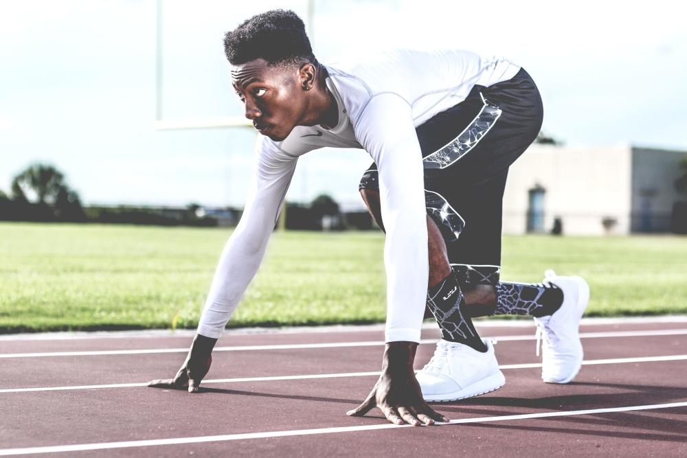 Concorrenza, sport, uomo, sforzo, esercizio, atletica