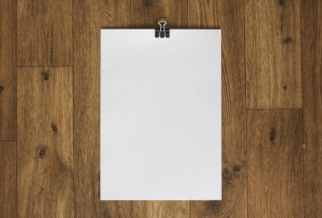 white paper, wood, empty, blank