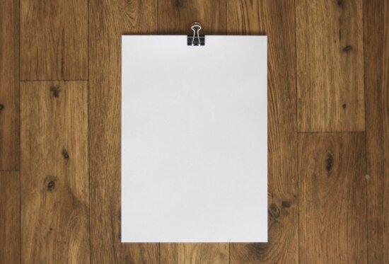 white paper, wood, empty, blank