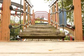 Детска площадка, увеселителен парк, строителство, градски, Градина, прозорец, дървени