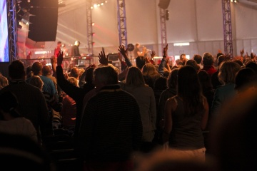 folk, koncert, crowd, performance, musik