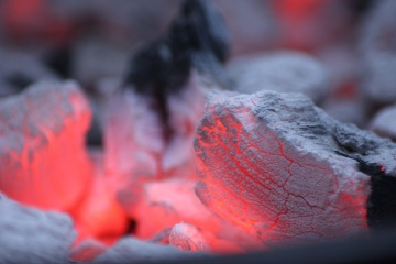 fire, flame, coal, heat, detail