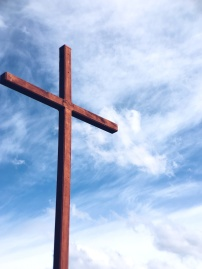 blue sky, daylight, cross, religion, christianity, object, symbol
