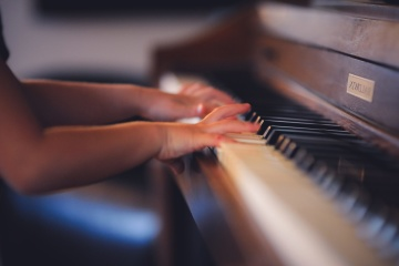 piano, indoors, music, hand, finger