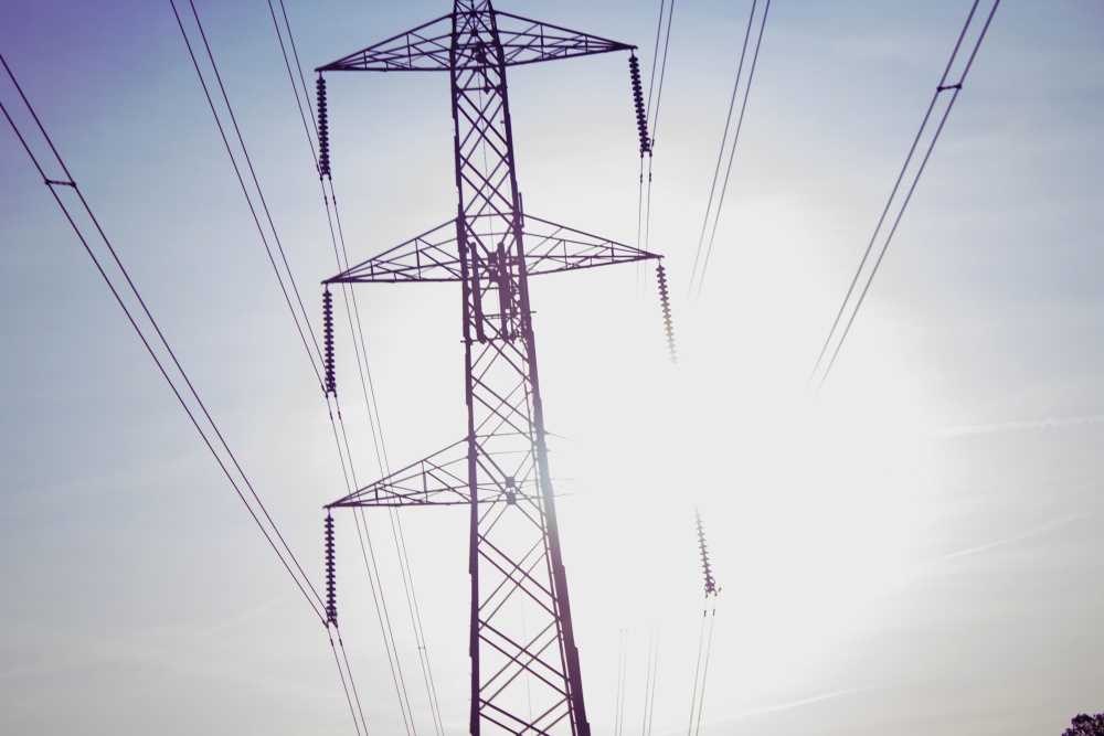 electricity, wire, voltage, power, energy, sky, industry, steel