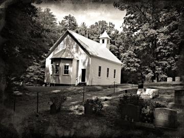 Iglesia, cementerio, arquitectura, exterior