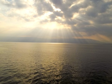 Puesta del sol, agua, paisaje, mar, amanecer, océano, paisaje marino, sol