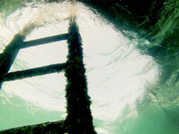 ladders, underwater, water