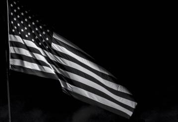 Bandera, patriotismo, Estados Unidos, monocromo