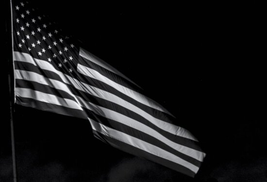 Pavilion, patriotism, Statele Unite ale Americii, monocrom