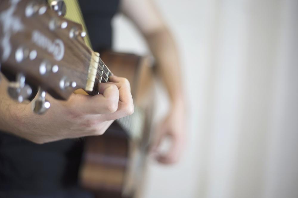 akustisk gitar, mann, musikk, gitar, sang