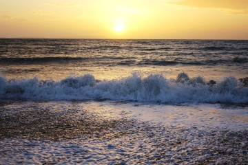 tide, beach, water, sunset, sea, ocean, sun, dawn, seashore, sand, shore