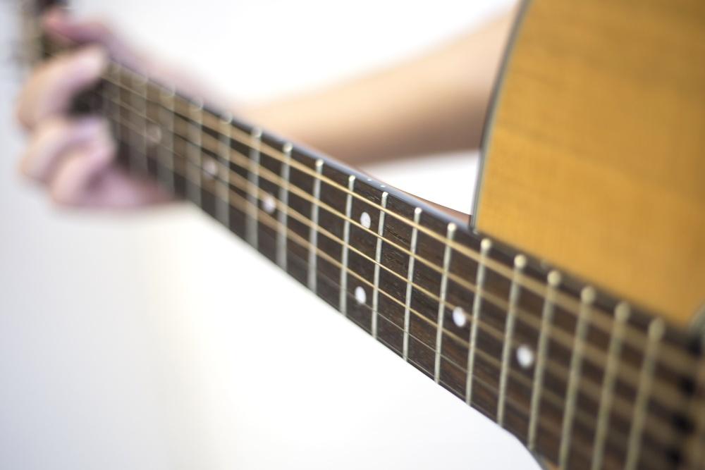 gitar, musikk, akustisk, instrument, lyd, tre