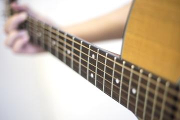 zene, gitár, akusztikus gitár, hangszer, hang, fa