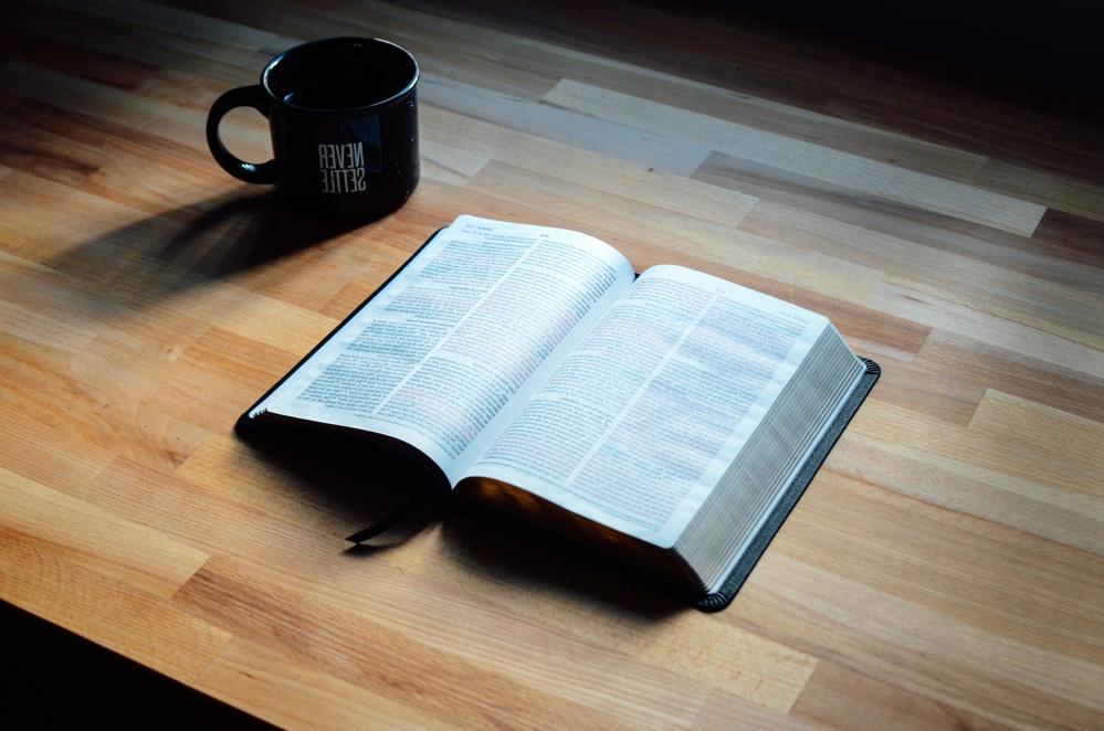 木材、机、本、コーヒー カップ、知識