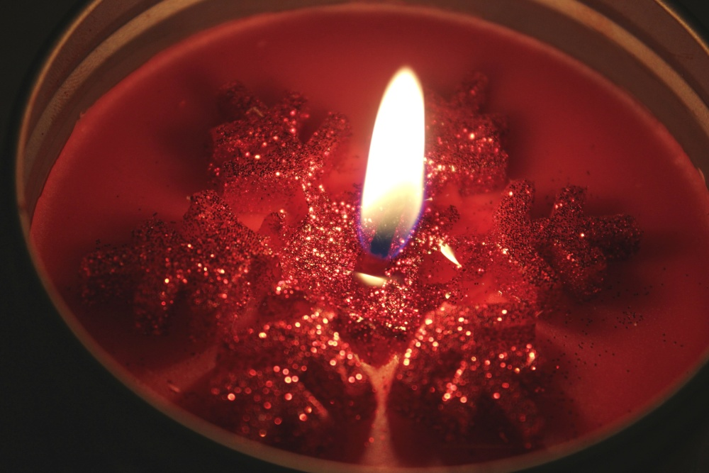 candle, candlelight, flame, wax, red