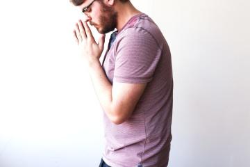man, portrait, prayer, hand, body