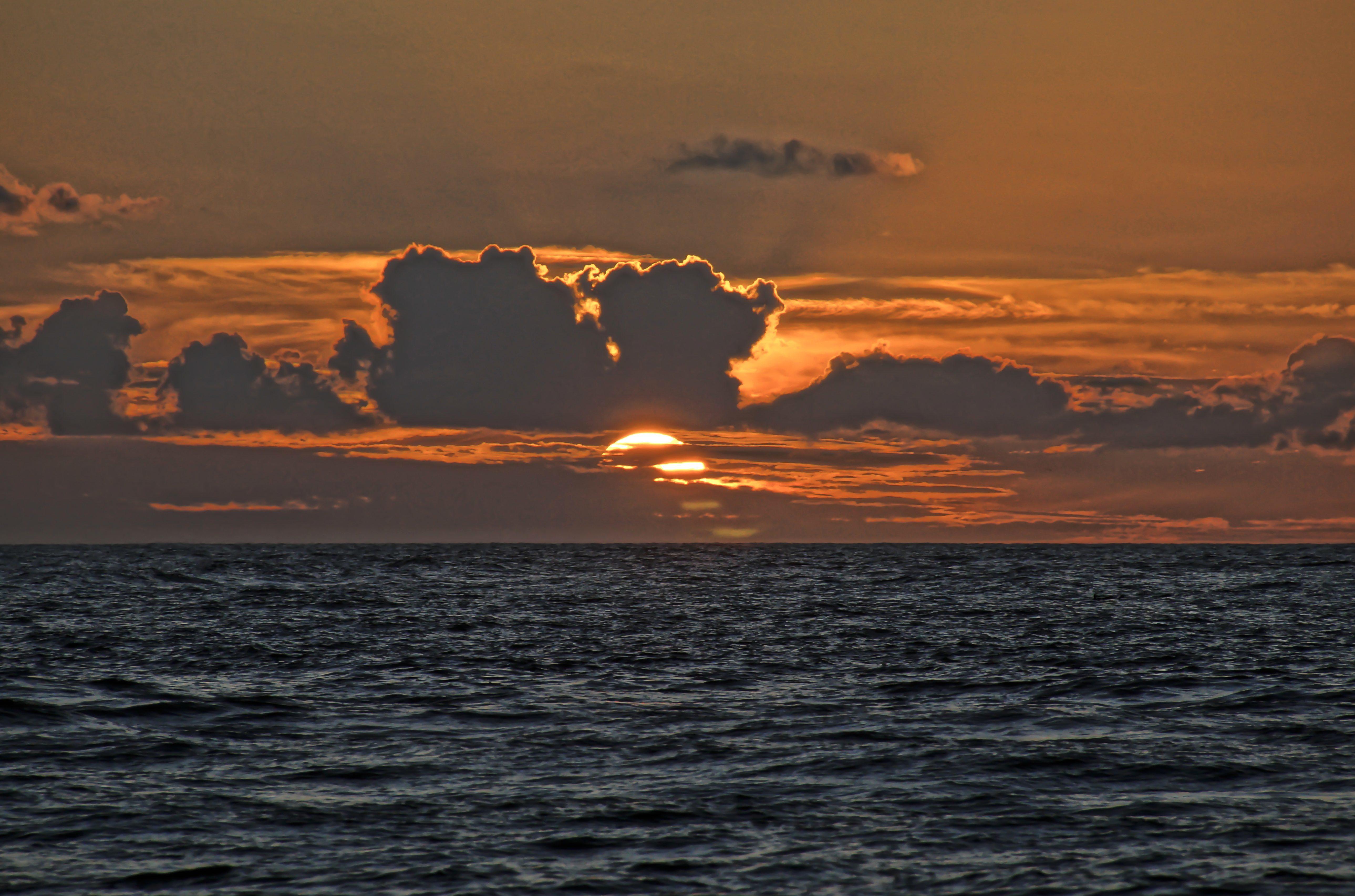 Free Picture Sunset Water Dawn Sea Sun Ocean Dusk