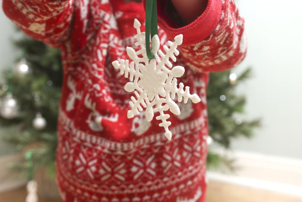 Flocon de neige, décoration, couleur, fête, Noël, ornement, fait à la main