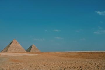 Pirámide, Egipto, desierto, arena, paisaje, cielo azul