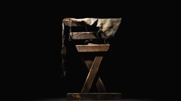 Oscuro, arte, sombra, madera, viejo, escultura