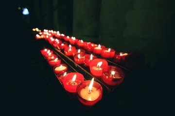 candle, light, fire, flame, decoration, red candle