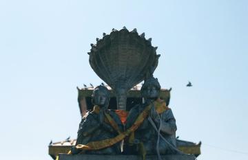Bronzo, statua, buddismo, scultura, religione, arte