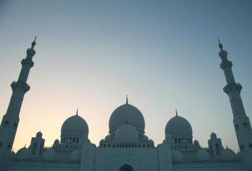 minaret, architecture, religion, dome, sky, temple, sunset, mosque