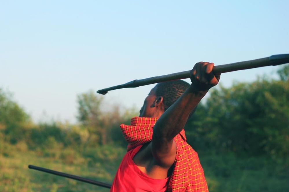 spear thrower, man, weapon, Africa