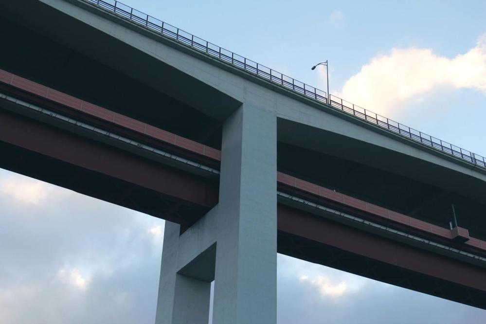 bridge, architecture, sky, concrete, expressway, road, highway