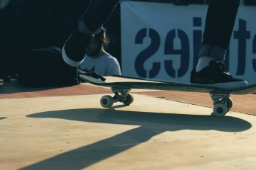 skateboard, extreme sport, person, shadow, object