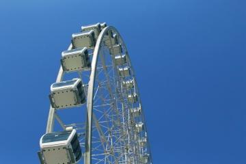 Cielo, intrattenimento, architettura, costruzione, divertimento, altezza, carnevale