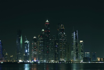 city, architecture, cityscape, downtown, sky, dusk, urban, waterfront