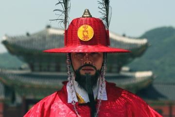 Hombre, tradición, sombrero, moda, Japón, cara, retrato, persona, festival