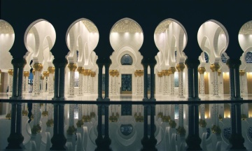 Mezquita, arquitectura, lámpara, religión, mármol, exterior, religión