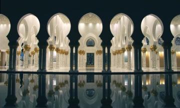 moskén, arkitektur, lampa, religion, marmor, exteriör, religion