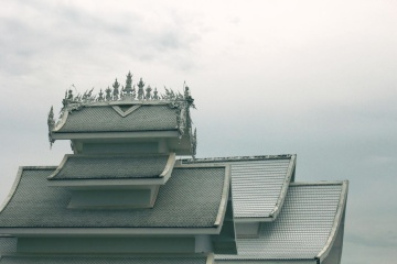 architecture, sky, exterior, Asia, roof