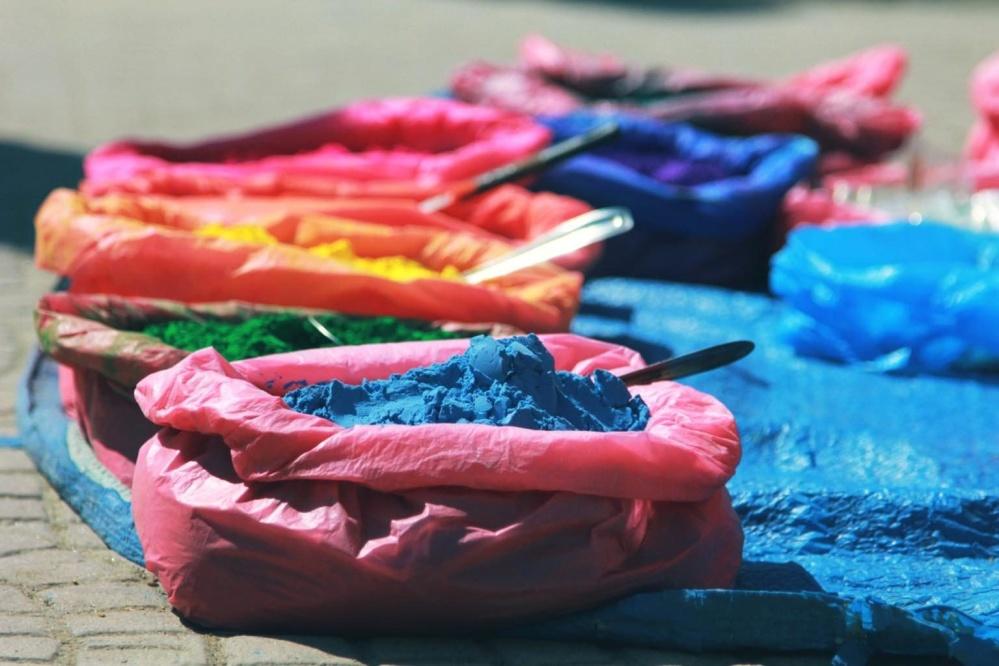 màu sắc, sơn, đầy màu sắc, bột