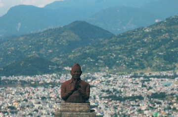 bronz, socha, sochy, art, hory, krajina, letný