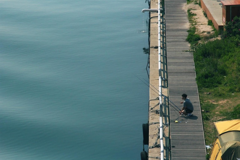 Pesca, pescatore, acqua, ricreazione, fiume
